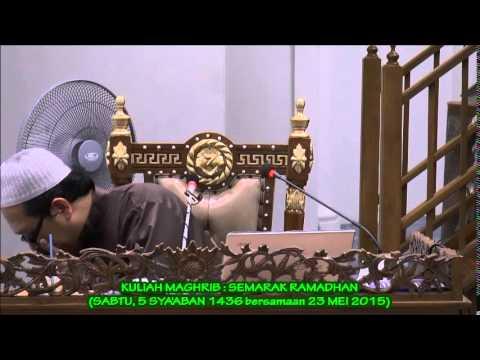 (V86) Kuliah Maghrib Sabtu 5 Sya'aban 1436 (23 Mei 2015) oleh PM Dr Ustaz Haji Ahmad Kilani Mohamed