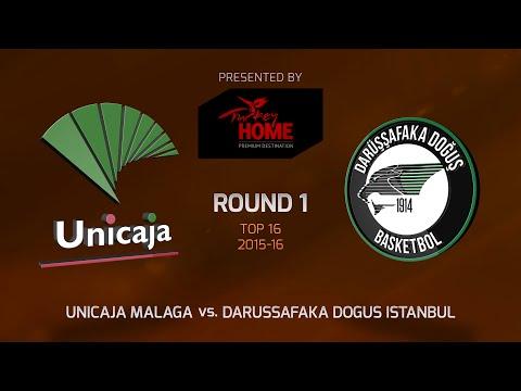 Highlights: Top 16, Round 1, Unicaja Malaga 70-62 Darussafaka Dogus Istanbul