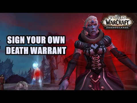 Sign Your Own Death Warrant Quest WoW
