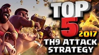 Top 5 Best TH9 Attack Strategy for 2017 in Clash of Clans which one is your favorite or what would you put as the Top 5. All attacks performed by my Clan X-L...