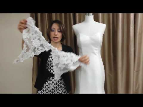 How to dress up a simple wedding dress?