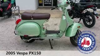 8. 2005 vespa px150 used moped for sale