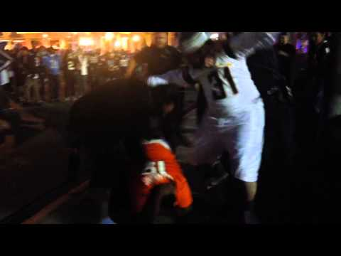 Broncos fan beaten