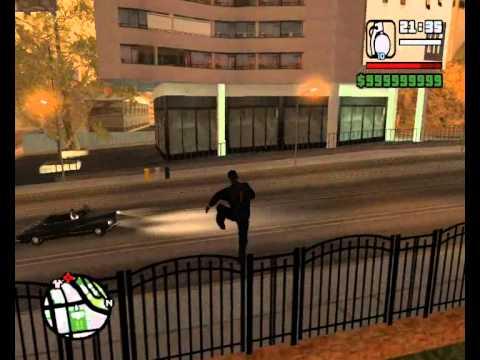 Gravità zero su GTA San Andreas - Cheat crazy trainer