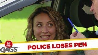 Police Loses Pen Behind Ear