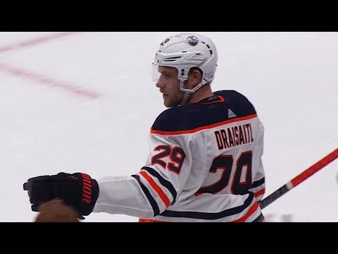Video: Draisaitl wins face off, takes pass from Lucic and scores