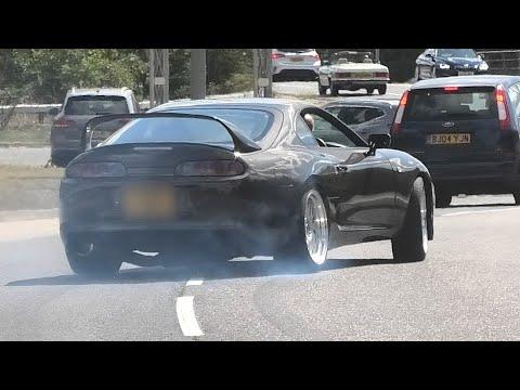 Modified Cars Leaving a Car Show - SlammedUK Coffee Morning - August 2020