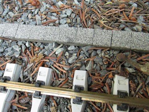 Test Kabelkanal für die Gartenbahn