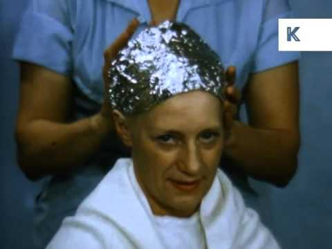 1960s Hairdresser Bleaching Woman's Hair, Blonde Hair Dye