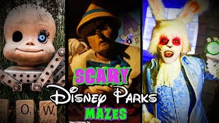 Disney Parks Haunted Mazes
