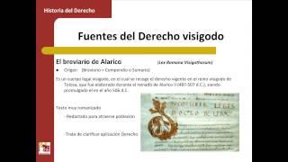 Umh1193sp 2013-14 Bloque 1.1.3 Las Fuentes Del Derecho Visigodo