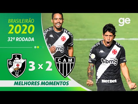 VASCO 3 X 2 ATLÉTICO-MG   MELHORES MOMENTOS   32ª RODADA BRASILEIRÃO 2020   ge.globo