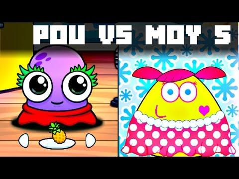 POU vs MOY 5 GAMEPLAY CHILDREN KIDS GAME