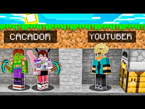 DESAFIO: CAÇADOR vs YOUTUBER com DRAGON BALL no Minecraft!