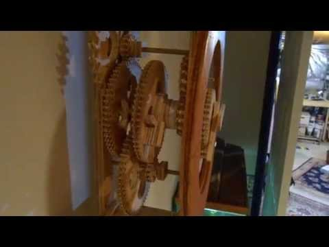 Brian Law - My first wooden clock build. Design is clock #1 by Brian Law. Made as more of a mechanical challenge than as an elegant clock. Please LIKE this video, it hel...