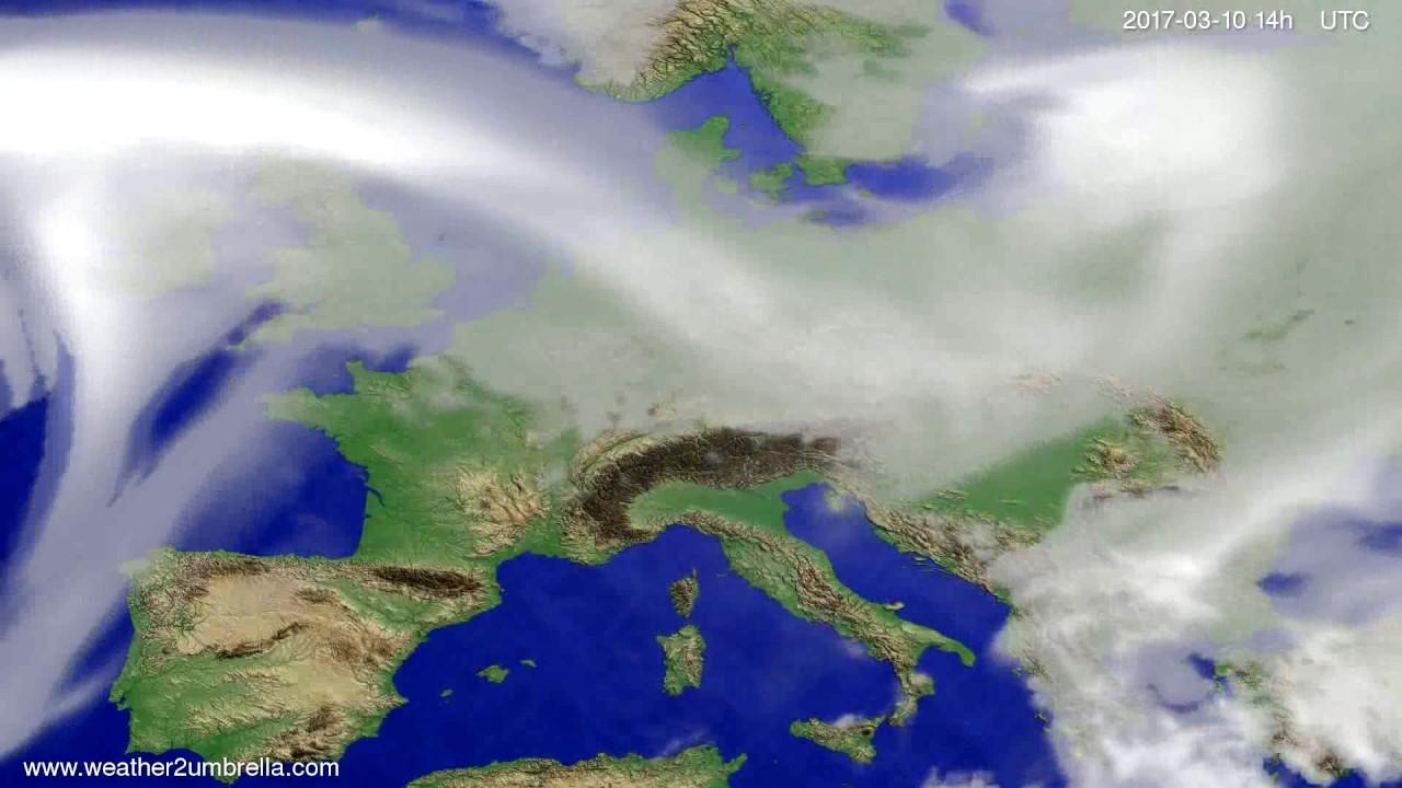 Cloud forecast Europe 2017-03-06