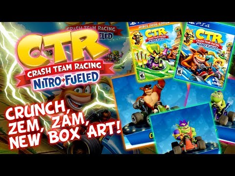 Crash Nitro-Fueled - Deluxe Edition Exclusive Skins - Crunch, Zem & Zam - New Box Art - Tiny Temple