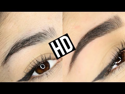 HD HIGH DEFINITION BROWS EYEBROW TRANSFORMATION | BEFORE & AFTER (видео)