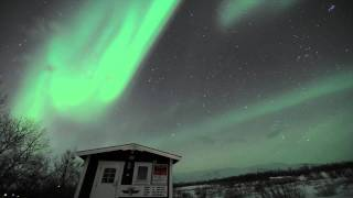 Northern lights time lapse in Abisko, Sweden 22nd Jan 2012