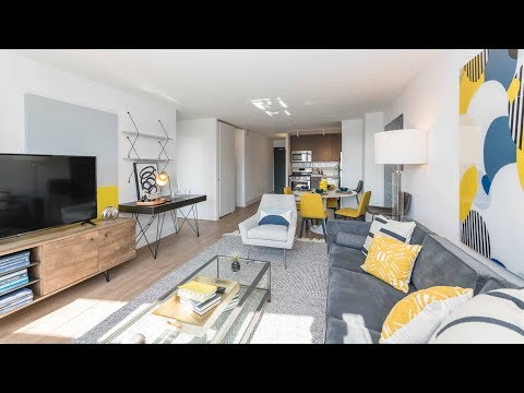 A sunny 1-bedroom model in Lakeview East at Wave Lakeview