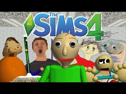 The Sims 4 Baldis Basics in Education and Learning CAS, School Build, 77 Notebooks