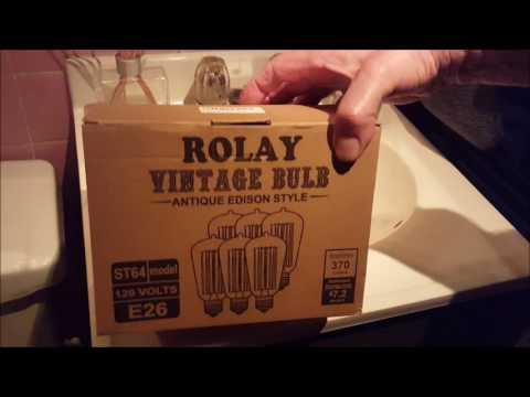 Rolay Vintage Edison Style Bulbs & an Lussuoso Lighting LED 'vintage' Bulb