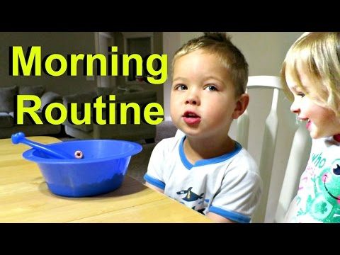 Morning Routine with 4 Little KIDS! (видео)