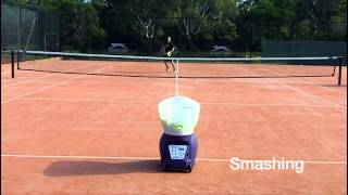 Tennis Highlights, Video - Spinfire Pro 2 Tennis Ball Machine - On Court
