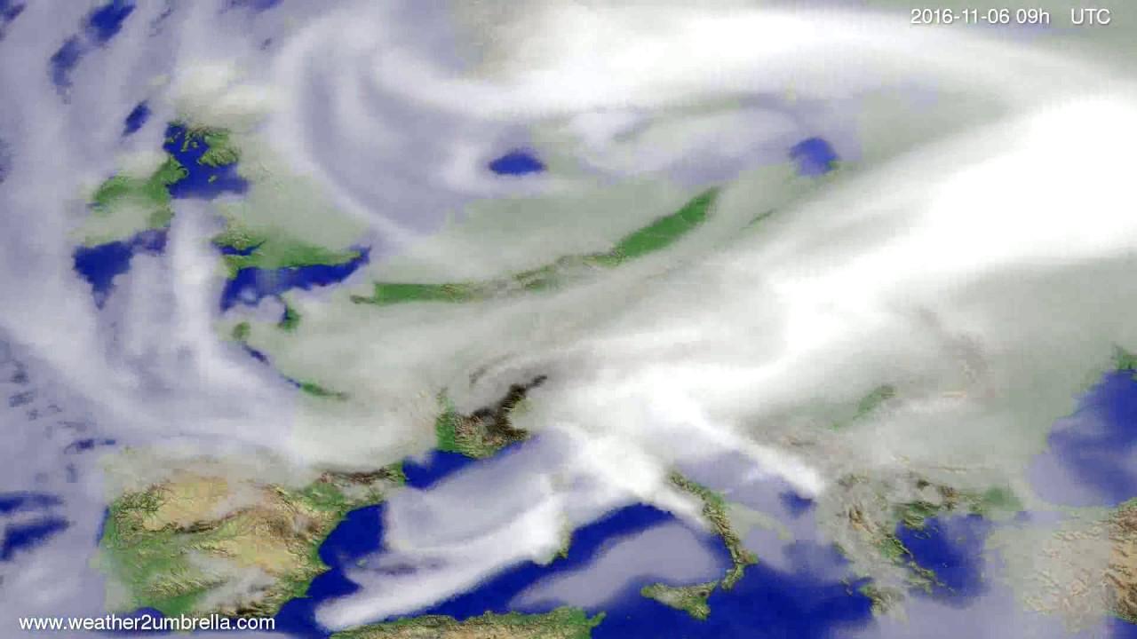 Cloud forecast Europe 2016-11-02