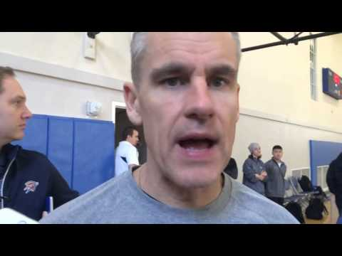 Durant, Donovan at Shootaround (видео)
