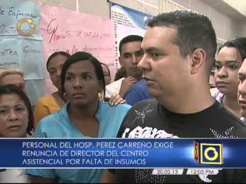 Personal del Hospital Pérez Carreño protesta porfalta de insumos, reivindicaciones salarial