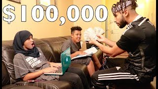 Giving My Family $100,000 To Drop Out Of School *social experiment*