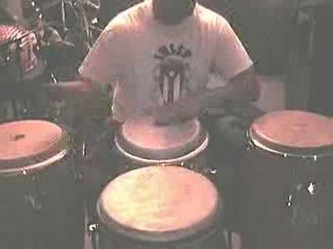 Joe Collado /Guaguanco  with 4 congas