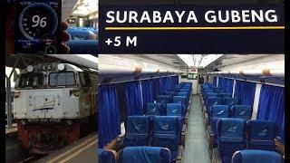 Perjalanan naik kereta api Sancaka Sore dari Surabaya Gubeng menuju Yogyakarta