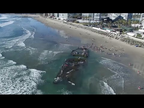 Sunken Gambling Ship Reappears After 80 Years