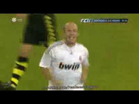Golazo de Robben con el Real Madrid