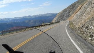 7. Motorcycle Vacation through Bear Tooth Pass in Montana on Victory Cross Country Tourer