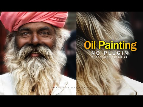 Oil Painting Portraits | Photoshop CC Tutorial | Ju Joy Design Bangla