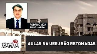 As aulas na Universidade Estadual do Rio de Janeiro e no Colégio de Aplicação da Uerj foram retomadas na manhã desta...