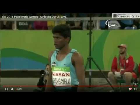 Mariyappan Thangavelu's gold medal jump in Men's T42 High Jump final – Rio 2016 Paralympics