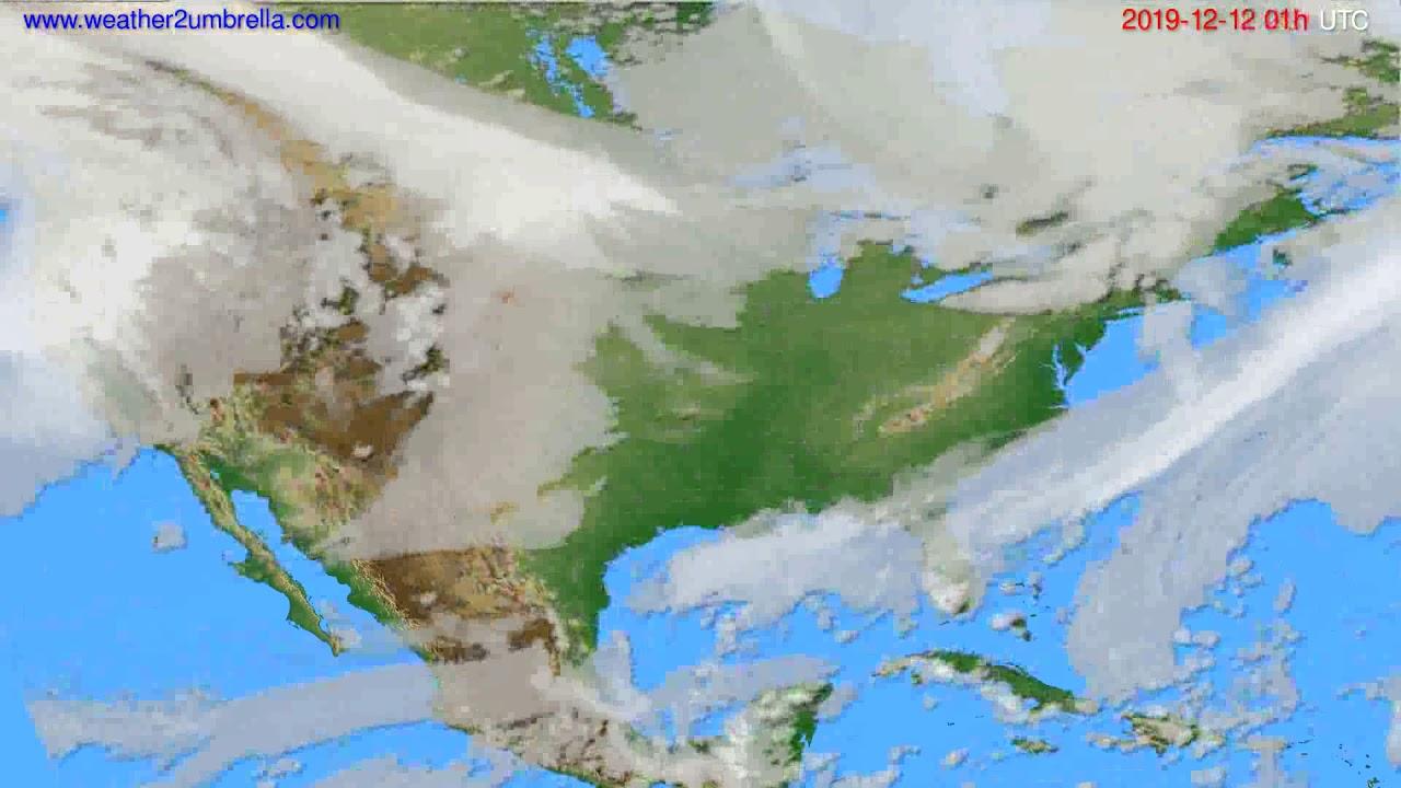 Cloud forecast USA & Canada // modelrun: 12h UTC 2019-12-10
