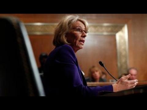 Teachers protest Trump's education pick Betsy DeVos