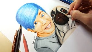 Drawing - DanTDM (TheDiamondMinecart)Let me know what about what you think below!!(If you have any suggestion for me to draw, let me know in the comment)Equipment and Art Tools- Color Pencil:                Caran d'ache - Prismalo Color Editing equipment- Sony DSC-WX50 (Amazon: http://goo.gl/P7UzH5)- Final Cut Pro X & iMovie (Mac App Store)- Manfrotto Compact Tripod (Amazon: http://goo.gl/QsZuCM)- SelfieStickMusic: Tobu - Sound of GoodbyeSoundCloud: https://soundcloud.com/7obuYoutube: https://www.youtube.com/user/tobuofficial