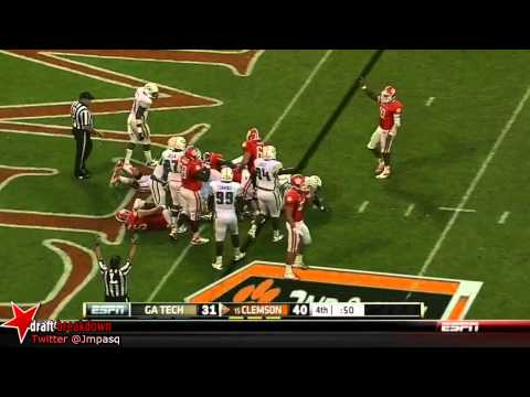 Roderick McDowell vs Georgia Tech NC State South Carolina 2012 video.