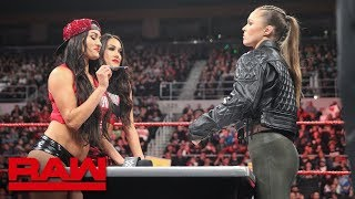 Video Ronda Rousey & Nikki Bella come face-to-face for Women's Title Contract Signing: Raw, Oct. 22, 2018 MP3, 3GP, MP4, WEBM, AVI, FLV Desember 2018
