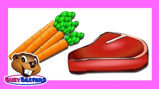 """""""Vegetables&Meats"""" (Level 2 English Lesson 12) CLIP - Healthy Education, Learn English"""