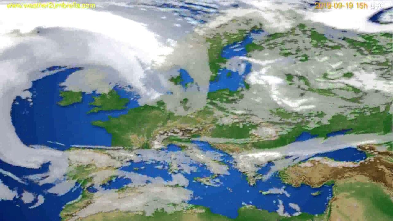 Cloud forecast Europe // modelrun: 12h UTC 2019-09-16