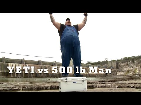 500 lb. Man vs. Yeti Cooler