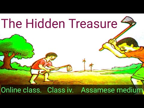 Class IV The Hidden Treasure Moral Story in English with Assamese meaning