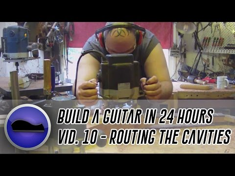 Video 10 - How to build a guitar | I make a pickup routing template and the rout the cavities